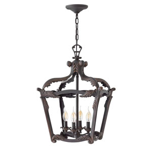 Sorrento Aged Iron 24-Inch Four-Light Single Tier Foyer