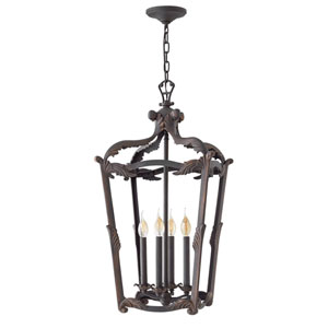 Sorrento Aged Iron 32-Inch Four-Light Single Tier Foyer