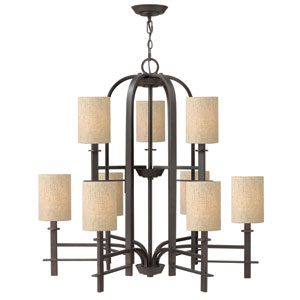 Sloan Regency Bronze Nine-Light Chandelier