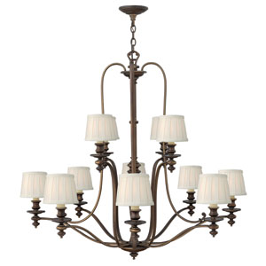 Dunhill Royal Bronze Twelve-Light Chandelier