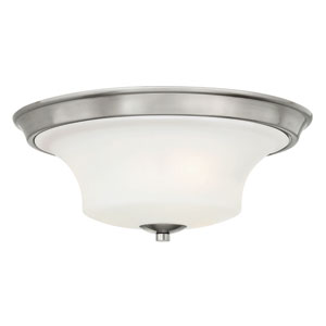 Brantley Brushed Nickel Flush Mount Bath Fixture