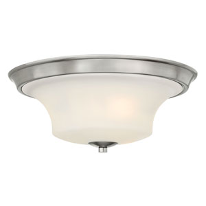 Brantley Brushed Nickel Two Light LED Flush Mount