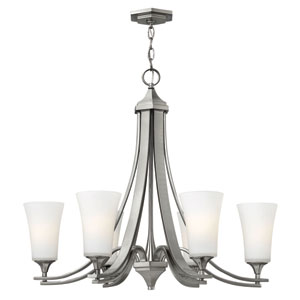 Brantley Brushed Nickel Six Light Chandelier