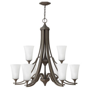 Brantley Oil Rubbed Bronze 33-Inch Nine-Light Two Tier Chandelier