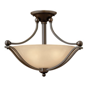 Bolla Olde Bronze Two Light LED Semi-LED Flush Mount