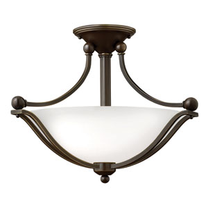 Bolla Olde Bronze Two Light Foyer Semi Flush