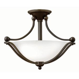 Bolla Olde Bronze 14-Inch Two Light LED Foyer Semi Flush