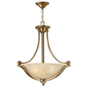 Bolla Brushed Bronze Three-Light Bowl Pendant