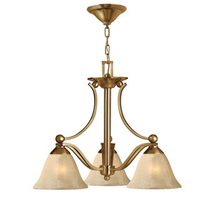 Bolla Brushed Bronze Three-Light Chandelier