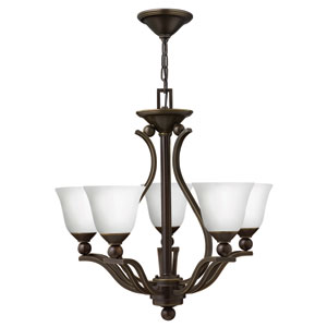 Bolla Olde Bronze Five Light Chandelier