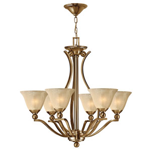 Bolla Brushed Bronze Six-Light Chandelier