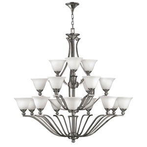 Bolla Brushed Nickel Eighteen-Light Chandelier