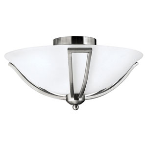 Bolla Brushed Nickel Flush Mount Ceiling Light