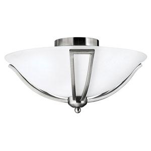 Bolla Brushed Nickel Two Light LED Flush Mount