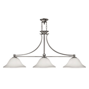 Bolla Brushed Nickel Three-Light Island Pendant