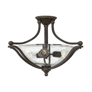 Bolla Olde Bronze Three-Light Semi Flush Mount