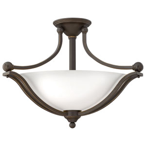 Bolla Olde Bronze Three Light Foyer Semi Flush
