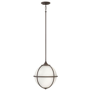 Odeon Brushed Nickel Three-Light 18-Inch Stem Hung Pendant