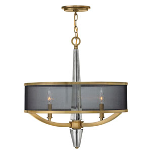 Ascher Brushed Caramel Three-Light Foyer Pendant
