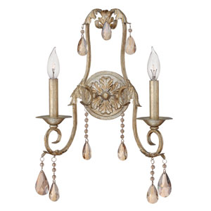 Carlton Silver Leaf Two-Light Sconce