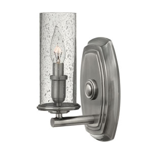 Dakota Polished Antique Nickel One-Light Wall Sconce