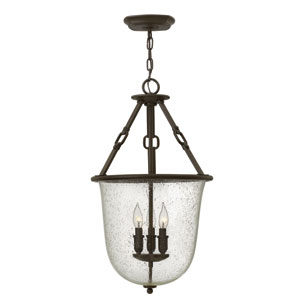 Dakota Oil Rubbed Bronze Three-Light Foyer Pendant