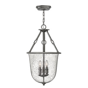 Dakota Polished Antique Nickel Three-Light Foyer Pendant