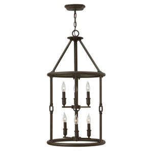 Dakota Oil Rubbed Bronze Six-Light Foyer Pendant