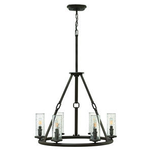 Dakota Oil Rubbed Bronze Six Light Chandelier