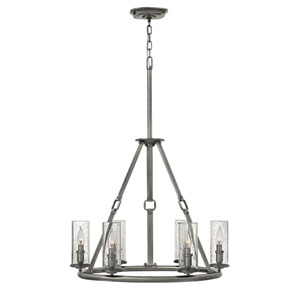 Dakota Polished Antique Nickel Six-Light Chandelier