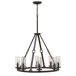 Dakota Oil Rubbed Bronze Eight Light Chandelier