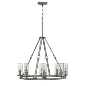 Dakota Polished Antique Nickel Eight-Light Chandelier