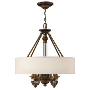 Sussex English Bronze Four-Light Chandelier
