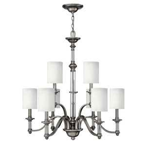 Sussex Brushed Nickel Eight-Light Chandelier