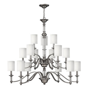 Sussex Brushed Nickel Fifteen-Light Chandelier