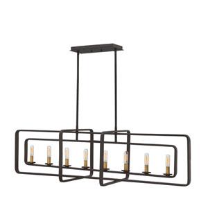 Quentin Buckeye Bronze Eight-Light Linear Pendant