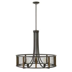 Beckett Iron Rust Five-Light 27-Inch Single Tier Foyer Stem Hung