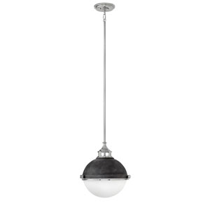 Fletcher Aged Zinc 14-Inch Two-Light Stem Hung Pendant
