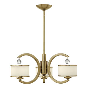 Monaco Brushed Caramel Three Light Chandelier