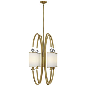 Monaco Brushed Caramel Four Light Pendant