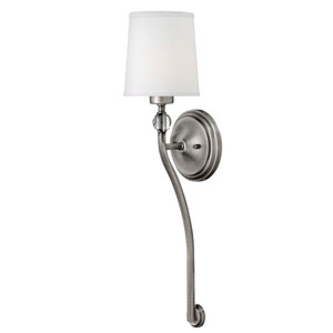 Morgan Antique Nickel One-Light Wall Sconce