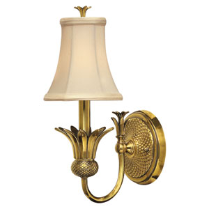 Plantation Burnished Brass One-Light Wall Sconce