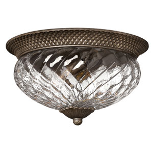 Plantation Pearl Bronze Flush Mount Ceiling Light