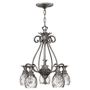 Plantation Nickel Five-Light Chandelier
