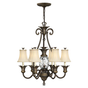 Plantation Pearl Bronze Seven-Light Chandelier