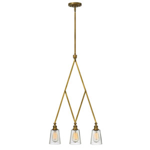 Gatsby Heritage Brass Three Light Pendant