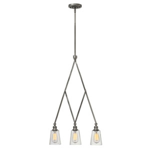 Gatsby Polished Antique Nickel Three Light Pendant
