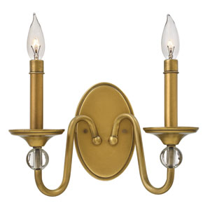 Eleanor Heritage Brass Two-Light Wall Sconce