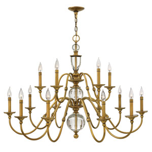 Eleanor Heritage Brass 15-Light Chandelier