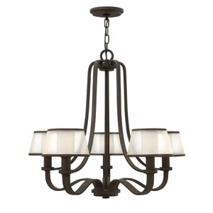 Prescott Olde Bronze Five Light Chandelier